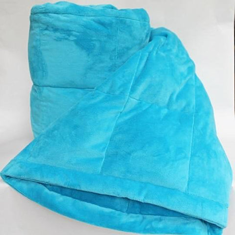 Dark Turquoise Smooth Minky Weighted Blanket