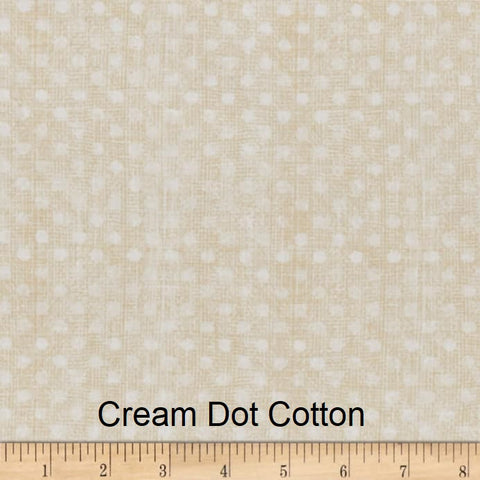 "Large Blanket 6FT (45"" x 72"") Cream Dot"