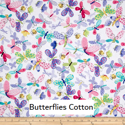 "Medium Blanket 5Ft (38"" x 60"") Butterflies"