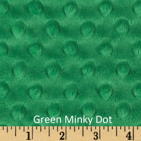 Green Minky Weighted Blanket