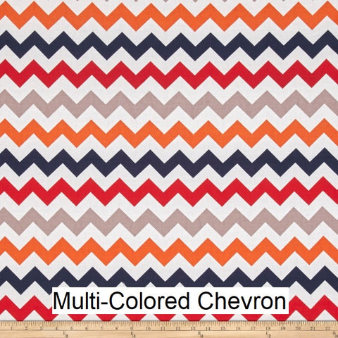 "Medium Blanket 5Ft (38"" x 60"") Multi-Colored Chevron"