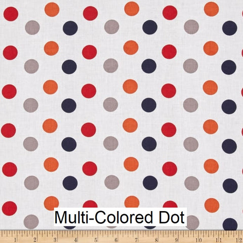 "Small Blanket (38"" x 50"") Multi Colored Dot"