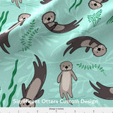 "Small Blanket 4Ft (38"" x  50"") Significant Otters Custom Design"