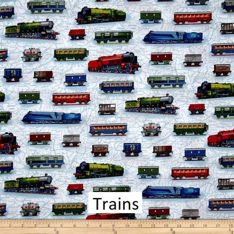 "Small Blanket (38"" x 50"") Trains"