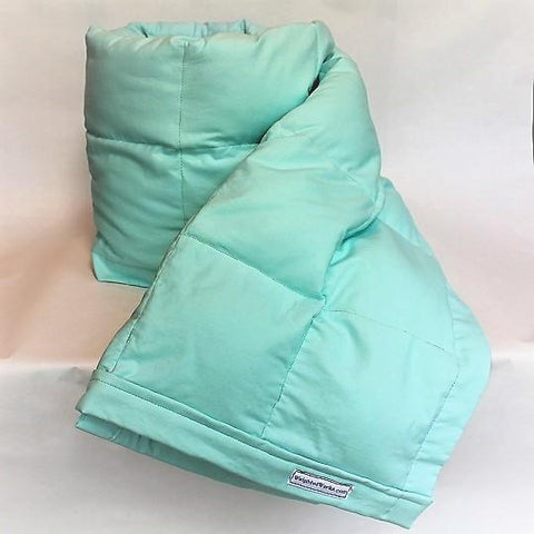 Small Aqua Cotton Weighted Blanket