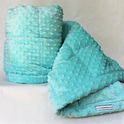 Aqua Minky Weighted Blanket