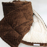 Brown and Ivory Weighted Blanket