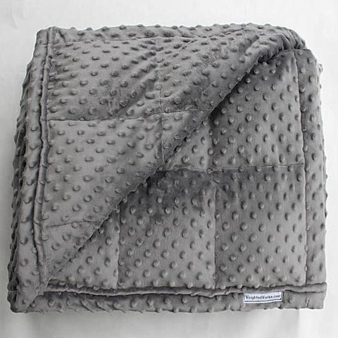 Charcoal Minky Dot Weighted Blanket