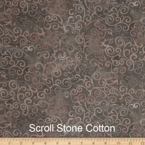 "Large Blanket 6FT (45"" x 72"") Scroll Stone"