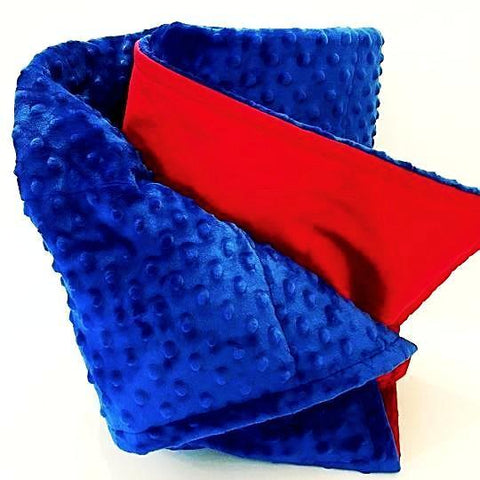 Red and Royal Blue Weighted Blanket