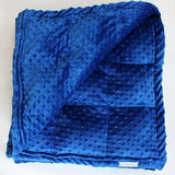 Royal Blue Minky Dot Weighted Blanket