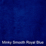 medium royal blue minky weighted blanket for kids and teens