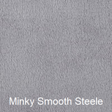 Steele Grey Smooth Minky Weighted Blanket