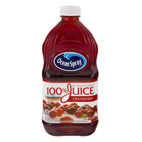 Ocean Spray 100% Cranberry Juice 60 oz (Includes .05 Deposit)