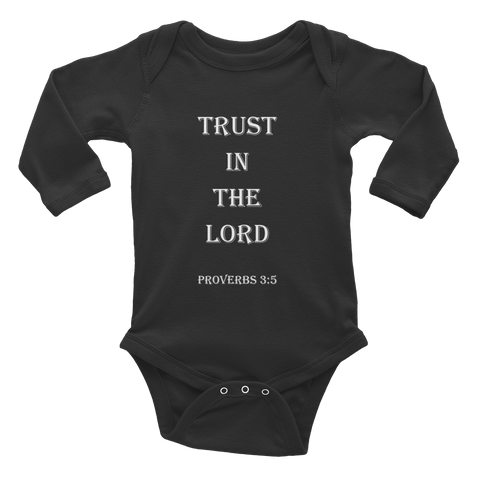 Proverbs 3:5 Infant Long Sleeve Bodysuit
