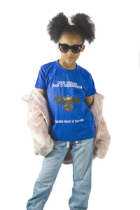 """Baby bounce like a supermodel, strut like a queen"" Kid's Tshirt"