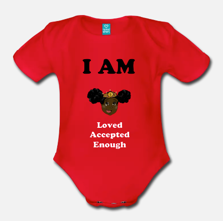I am loved, accepted, enough baby jumpsuit