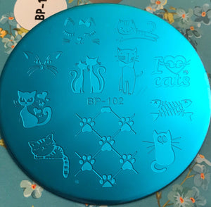 Cat themed stamping plate