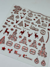 Holographic Christmas Sticker Sheet (Red)