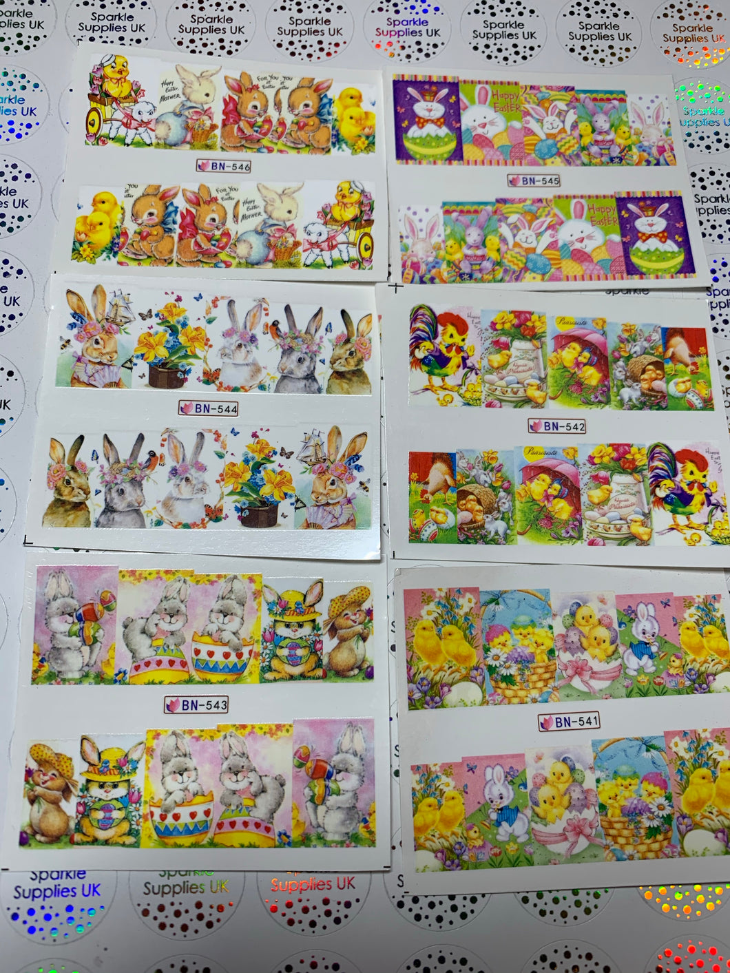 Easter Water Decals Pack of 6