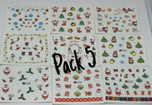 Christmas Stickers/Decals (9 Pack)