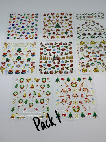 Metallic Christmas Stickers (8 Pack)