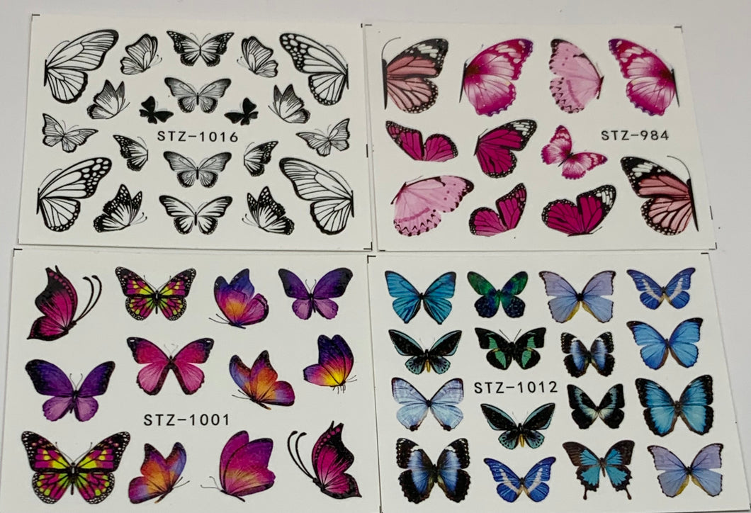 Butterfly Decals (4 Pack)