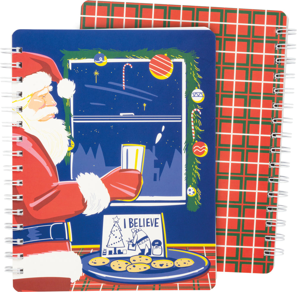 Spiral Notebook - I Believe Santa Claus