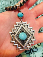 The Gambler Navajo Necklace With Turquoise Stone