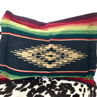 Serape Pillow Shams (Set of 2) Black/Green/Red