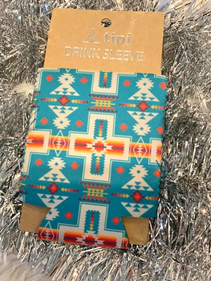 The Oregon Trail Aztec Turquoise Can Cooler