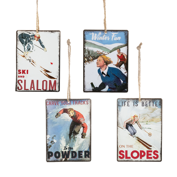 The Slalom Ski Town Ornament