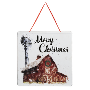 Merry Christmas Farmhouse Barn Hanging Sign