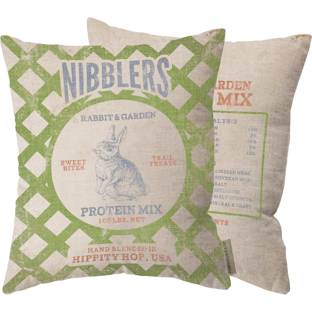 Nibblers Farmhouse Rabbit Pillow