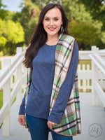 The 9 to 5 Vest With Suede Trim (Plaid, Aztec)