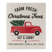 Christmas Truck Swedish Dishcloth