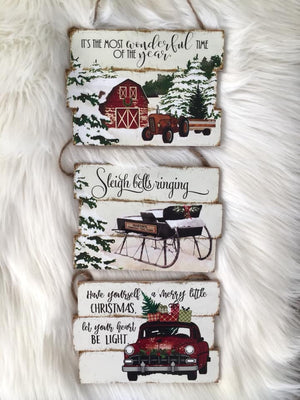 Hanging Signs - (Truck, Tractor, Sleigh)