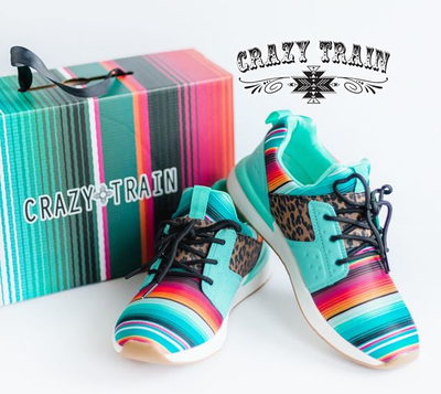 The Wild Side Crazy Train Serape + Leopard Tennis Shoes