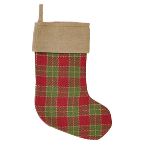 Red + Green Plaid Stocking