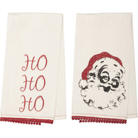 Christmas Santa + Ho Ho Ho Dish Towel (Set of 2)