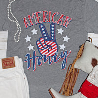 American Honey Patriotic Peace Sign Graphic Tee