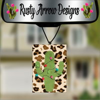 Cheetah With Christmas Cactus Scented Air Freshener