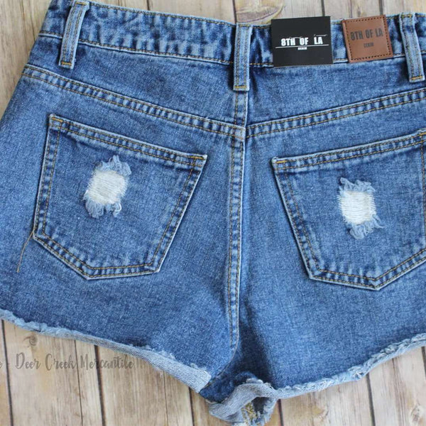 DAISY DUKES SIDE TIE SHORTS