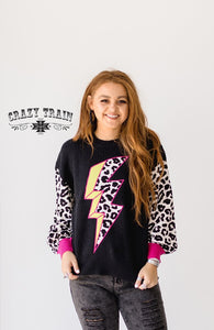 The Electric Dream Knit Sweater Top Lightning Bolt (S-3XL)