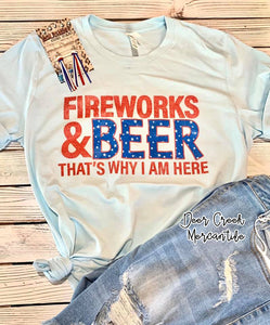 The Independence Fireworks & Beer Graphic Tee