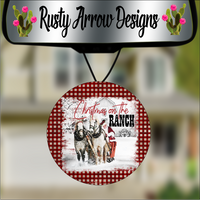 Christmas On The Ranch Round Air Freshener