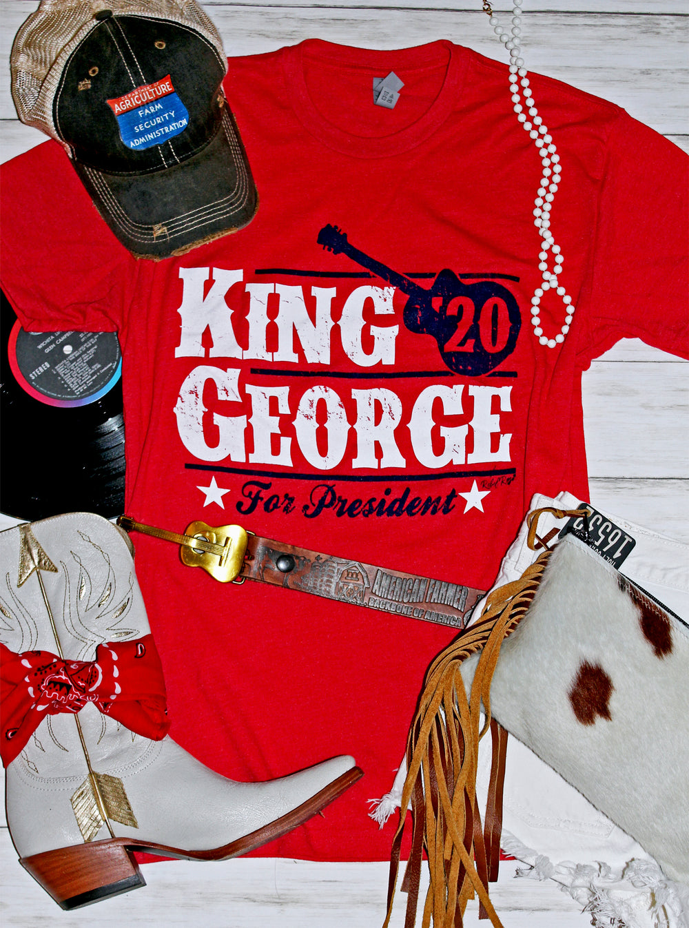 King George For President Graphic Tee