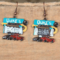 Dukes Drive In Pickup Truck Earrings