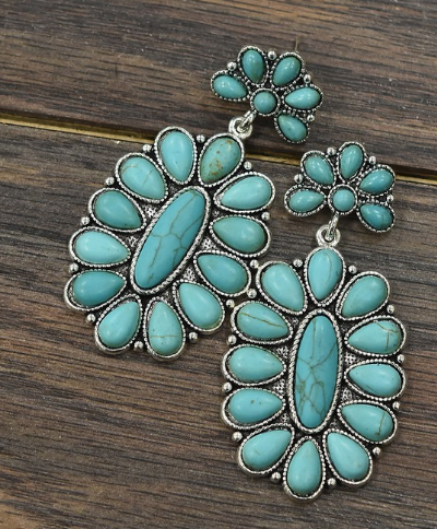 County Road 233 Turquoise Earrings