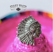 Indian Outlaw Silver Ring by Crazy Train